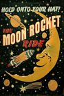 Space Moon Saturn Comet Rocket Spaceship Travel Vintage Poster Repro FREE SHIP