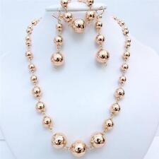 14K Rose gold Filled Lady Woman Necklace Bracelet Earrings Set s54