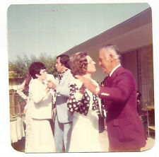 Vintage 70s PHOTO Couples Dancing In Backyard Dressy Party Event