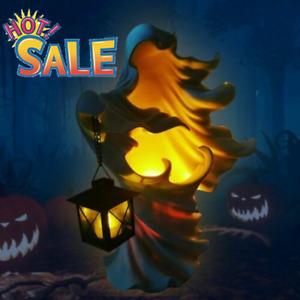 Hell's Messenger with Lantern Faceless Ghost Sculpture Halloween Decor