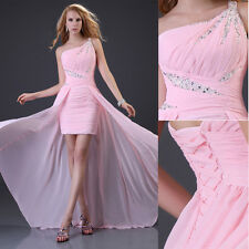 Pink Long Wedding Evening Formal Party Ball Gown Prom Bridesmaid Bridal Dress #