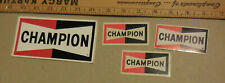 Vintage lot of 4 Champion spark Plug Toledo Ohio Stickers
