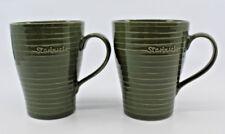 Starbucks 2009 Design House Stockholm Coffee Mug Cup Khaki Green 12 oz  Set of 2