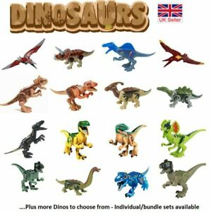Jurassic World Dinosaur Mini Figures Fit Big Brand Building Blocks T-rex UK Sell