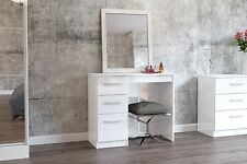 Birlea Lynx High Gloss All White 3 drawer Dressing Table bedroom furniture new