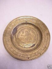 Antique hand chased brass plate India