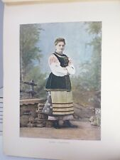 russie: Gravure 19° in folio couleur /petite Russienne