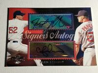 2006 Topps Co-Signers Papelbon & Breslow Auto Autograph Card Red Sox Signed