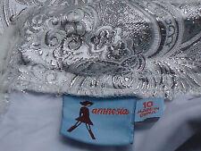 AMNESIA SilverLurexBlendPaisleyPartyMicroMini Sz10 NWoT
