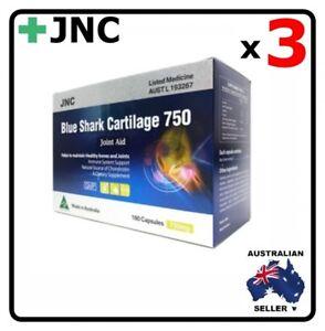 3 x JNC Australia Deep Sea Blue Shark Cartilage 750 mg 180 capsules