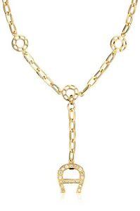 WOW! AIGNER Damenkette Swarovski-Elements Halskette Y-Collier GOLDfarben