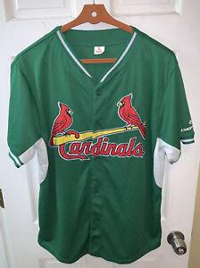 St. Louis Cardinals MLB SGA Men Extra Large XL Jersey St Patrick's Day Green