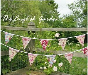 Fabric Bunting Wedding Birthday Party Christening 10-50ft Handmade Crafts