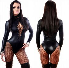 sexy PVC Outfit Domination Fetish Gothic super Catsuit Jump suit costume N1066