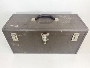 "Kennedy Kits Vintage Model K-20 20"" Tool Box Tan Removable Tray triple latch"