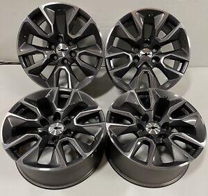 """Chevy Silverado Tahoe Suburban OEM Gunmetal Machined 20""""Wheels Rims 5916 #2793"""