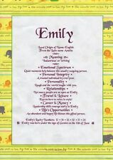 Personalised First Name Certificate  Christenings, Naming Day, Birthdays