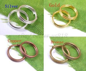 Double Loop Split Metal JUMP RINGS - Choose 4MM,5MM,6MM,7MM,8MM,10MM,12MM