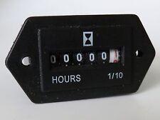 Hour Meter, Boat, Truck, Tractor  -  6-80  VDC Rect 713