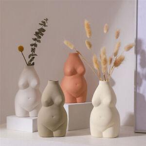 Nordic Ceramic Art Body Vase Desk Ornaments Nude Abstract Flower Pot Home Decor