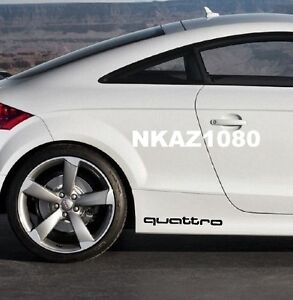 QUATTRO AUDI Vinyl Decal sticker Sport Racing emblem BLACK