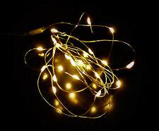 LED Micro Lichterkette Drahtlichterkette Weihnachten Beleuchtung Stimmungslicht