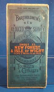 Bartholomew's New Reduced Survey Tourists Cyclists Map New Forest Sheet 33