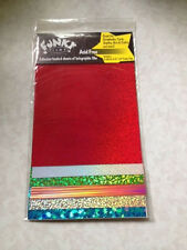 """6 Sheets Funky Film by Grafix Adhesive Backed Glitter Holographic Papers 6""""x8"""""""