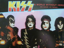 """KISS 45 RPM 7"""" - A World Without Heroes UNPLAYED W/COLLECTOR'S SLEEVE"""