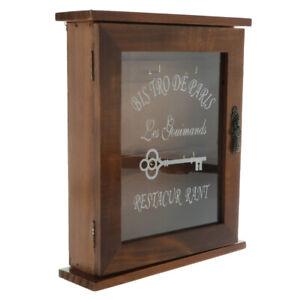 European Style Wooden Key Holder Box Decorative Key Cabinet with 6 Hook