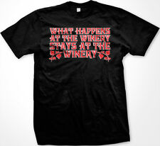 What Happens at the Winery Stays at the Winery Funny Drinking Wine Men's T-shirt