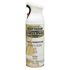 RUST-OLEUM 245199 Spray Paint, White, Gloss, 12 oz.
