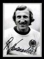 Georg Schwarzenbeck Autogrammkarte DFB Weltmeister 1974  Original Signiert