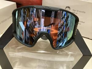 ! Oakley Line Miner XM Snow Ski Snowboarding Goggles Prizm Sapphire