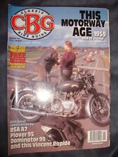 CLASSIC BIKE GUIDE 11/95 VINCENT RAPIDE BSA A7 PLOVER 95 DOMINATOR 99 NORTON CBG