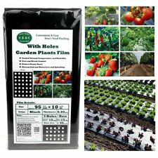 Black Plastic Mulch Cover Embossed Sheeting Weed Barrier Agricultural Insect