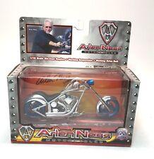Arlen Ness Iron Legends Motorcycle 1:18 Die Cast Replica - Blue Wheels NOS