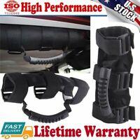 2x PREMIUM Roll Bar Grab Handle Handles Black for Jeep Wrangler CJ YJ TJ JK