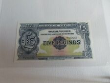 More details for britan armed forces £5 note gem uncirculated 1958 five pound  ee1 292262