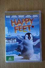 Happy Feet - Elijah Wood, Robin Williams, Hugh Jackman - PRE OWNED VGC (Box D15)