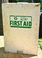 Vintage Collectible Zee Medical All Metal First Aid Cabinet Chest Carry Handle