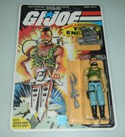 *RECARDED* 1985 GI Joe Ripper v1 Figure Complete Sealed *CUSTOM File Card Back*