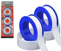 Pack of 3 PTFE Thread Sealing Tape 12m x 12mm Plumbing Water Pipe Fittings Seal