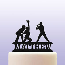 Personalised Acrylic Baseball Player Birthday Cake Topper Decoration Keepsake