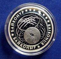 Kazakhstan-500-tenge-SPACE *BAIKONUR*-Bi-color Ag+Ta *2012* 1oz Proof  Coin