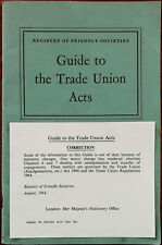 Registry of Friendly Societies Guide to the Trade Union Acts 1960 First Edition
