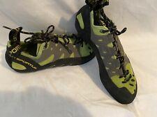 La Sportiva Tarantulace Mens/Womens 8.5/41 Kiwi Leather Rock Climbing Shoes