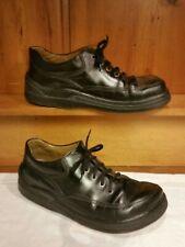 Footprints Birkenstock Womens 40/9.5 Black Leather Oxford Shoe Removable Insole