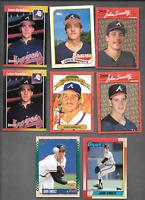 1989 DONRUSS #642 JOHN SMOLTZ Error Rookie & 2 J. SMOLTZ Erorr Cards + 4 BRAVES