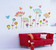 butterflies and flowers Home Decor Removable Wall Sticker/Decal/Decoration